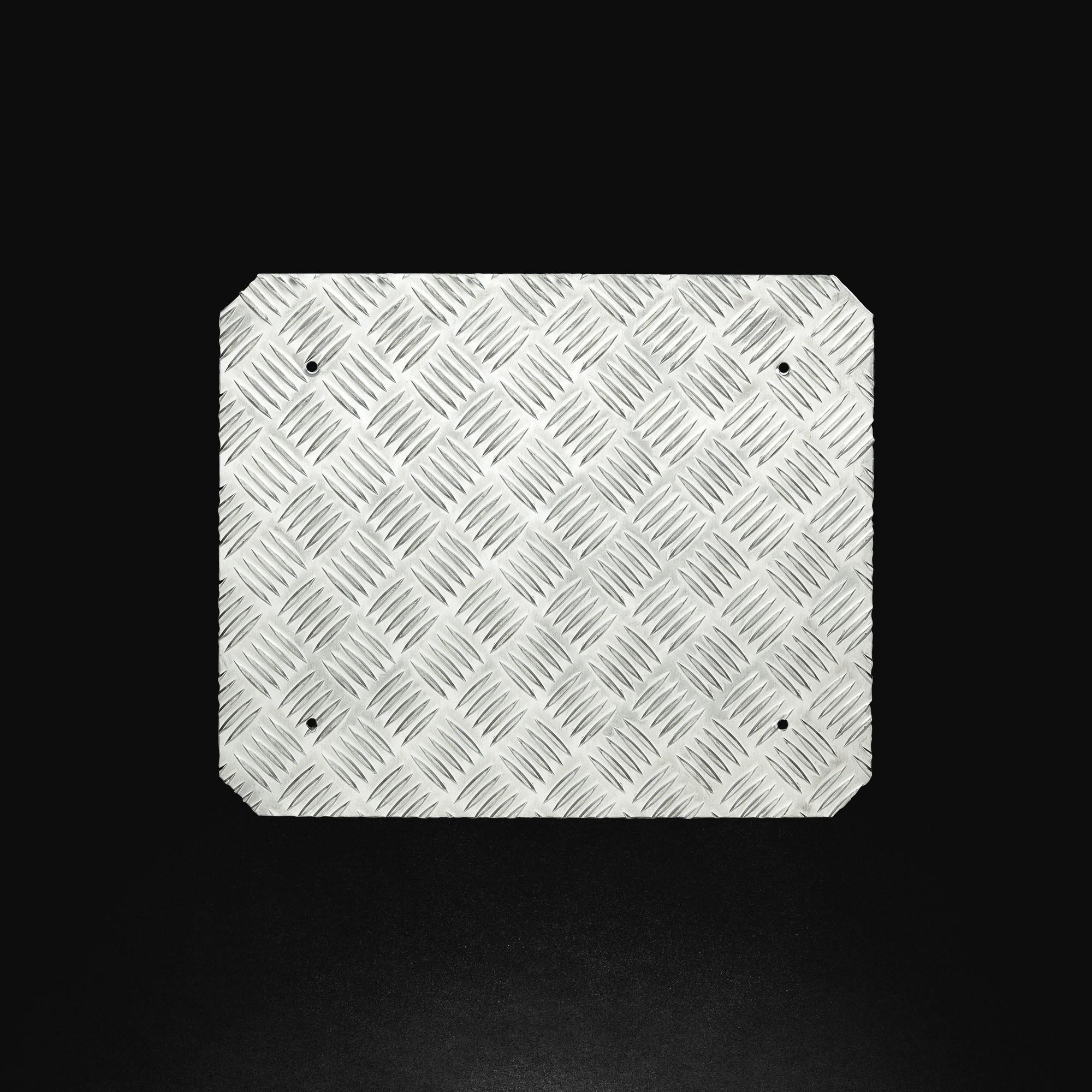 OMP OA//2080 Universal Footrest, Silver